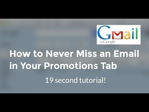 19 Second Gmail Inbox Tabs Tutorial - How to Never Miss an Email in Your Promotions Inbox Tab