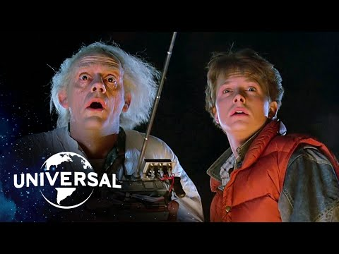 Back to the Future   The Very First DeLorean Time Travel Scene