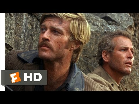 Butch Cassidy and the Sundance Kid (1969) - Off the CliffScene (3/5)   Movieclips