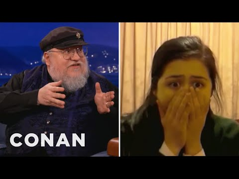 """George R. R. Martin Watches """"Red Wedding"""" Reaction Videos - CONAN on TBS"""