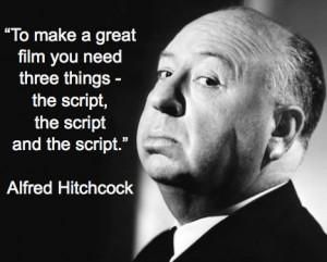 The script, the script, the script
