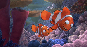 Nemo and Marlin, Father and Son. Screenwriting tip: Make stuff up but keep it real - fish can't talk but the human emotion shines through