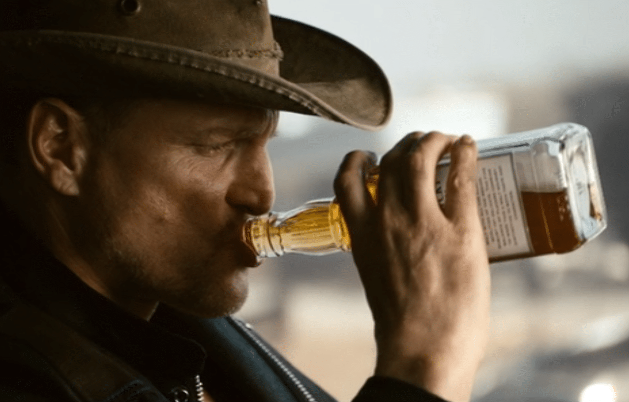 Tallahassee has a drink in Zombieland