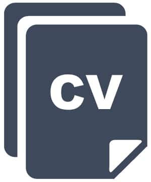 CV Icon. script reading course.