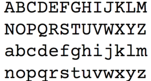 Courier Font Industry Standard