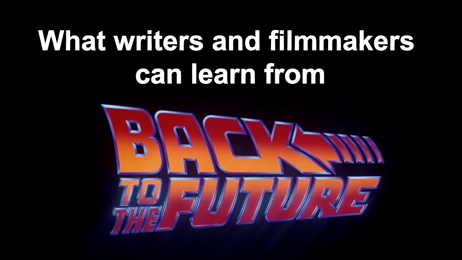 Back to the Future lessons