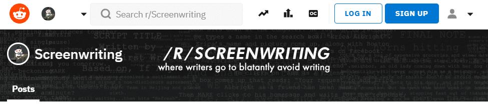 Reddit screenwriting