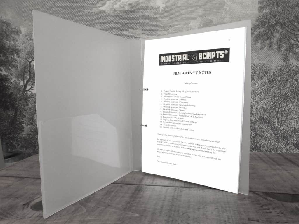 Film Forensic Notes - Script Coverage by Industrial Scripts