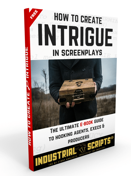 Industrial Scripts Online Screenwriting Courses: How To Create Intrigue In Screenplays. script coverage.  Write for tv. blogger. romance novel. script reading course.