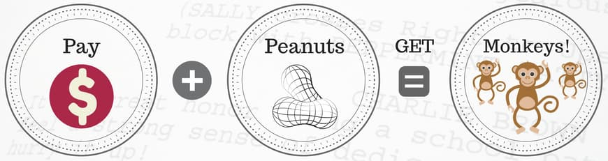 script consultant pay peanuts get monkeys