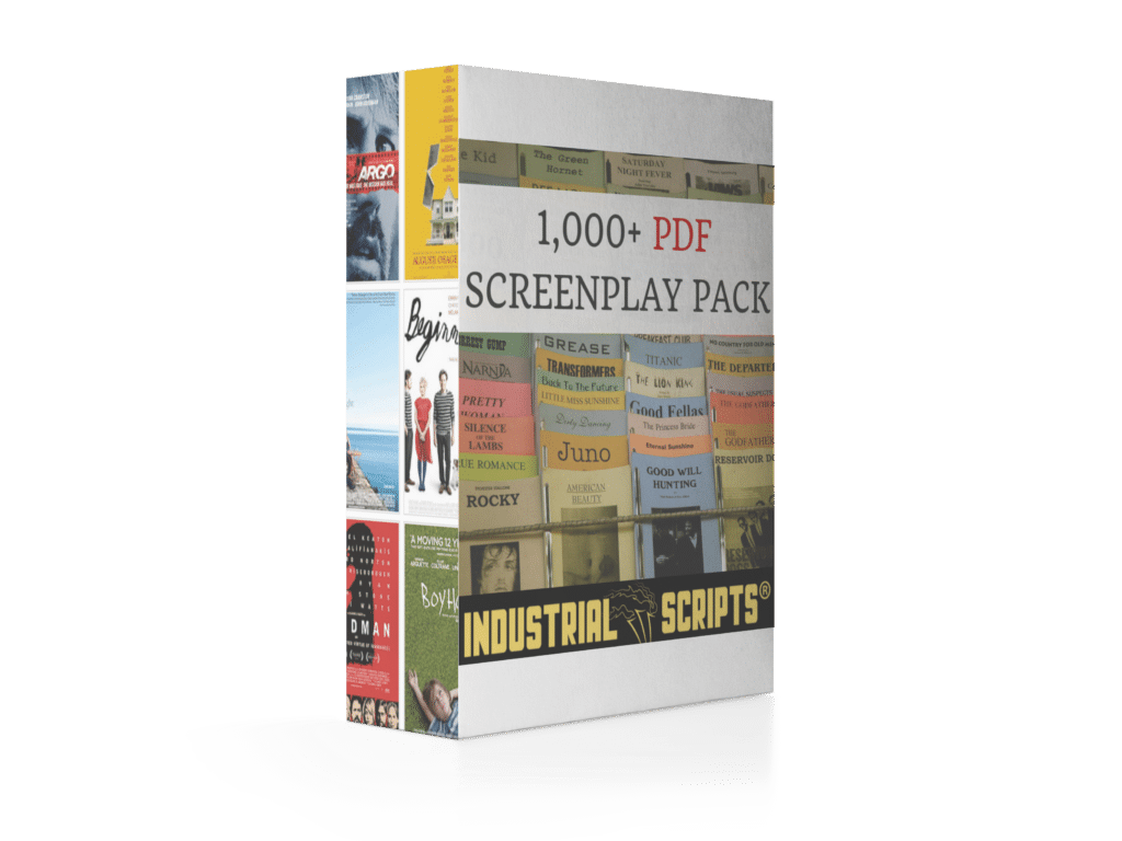 industrial scripts 1,000 PDF Screenplay pack part of the script reading course.