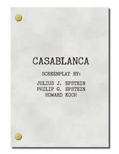 Must Read Filmmaking Casablanca Script