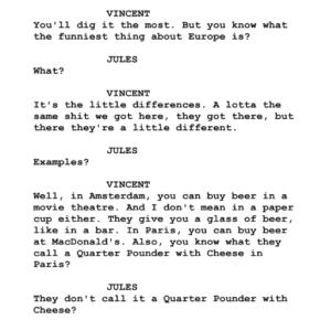 Must Read Filmmaking Pulp Fiction Script