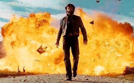 Walking Away from Explosion Movie Trope
