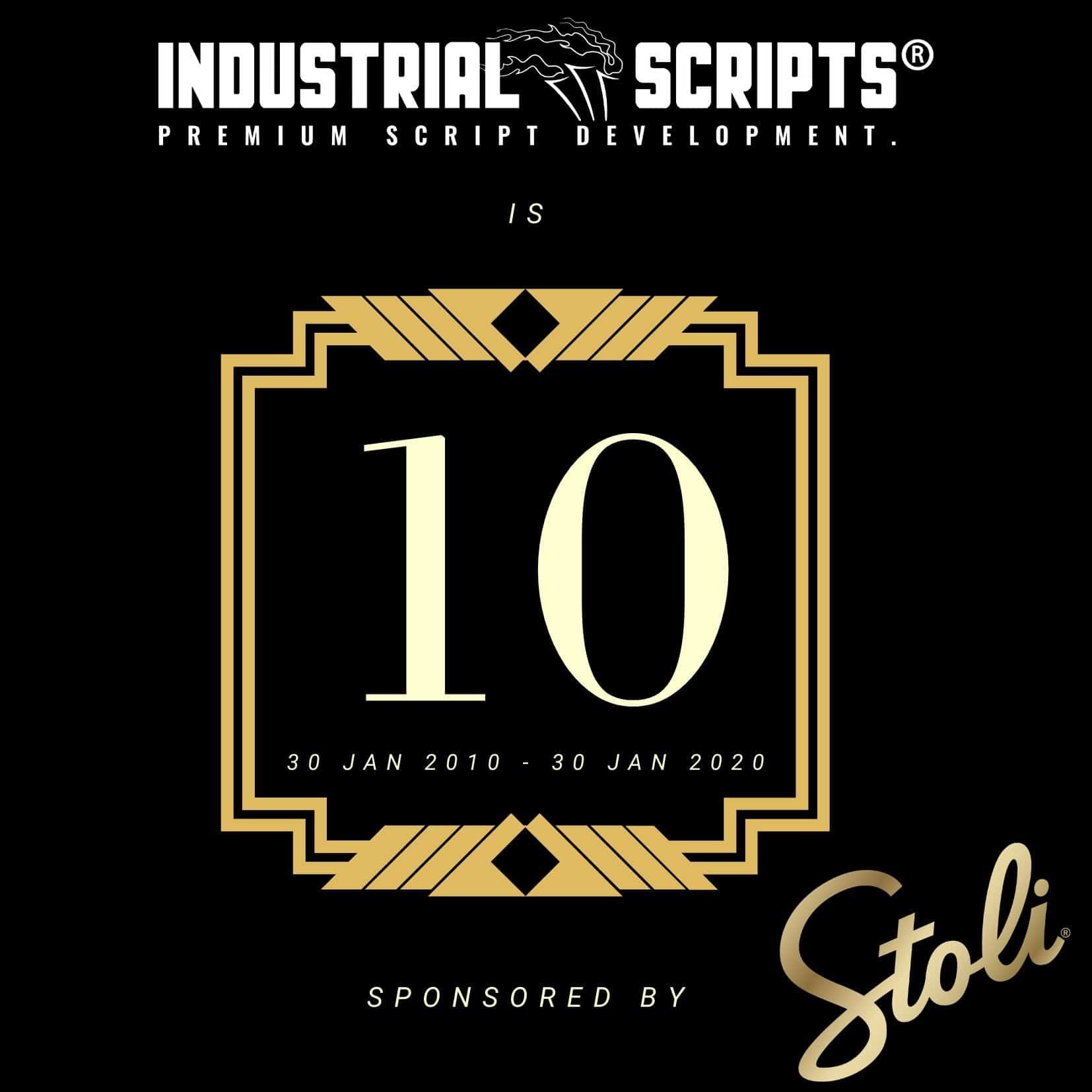 industrial scripts 10th anniversary