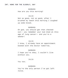 Julia-1-On-The-Nose-Dialogue Example