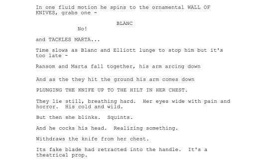 Knives Out, Rian Johnson, Screenplay