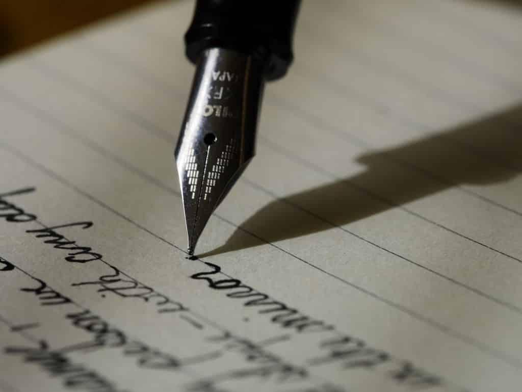 Scriptwriting - pen to paper
