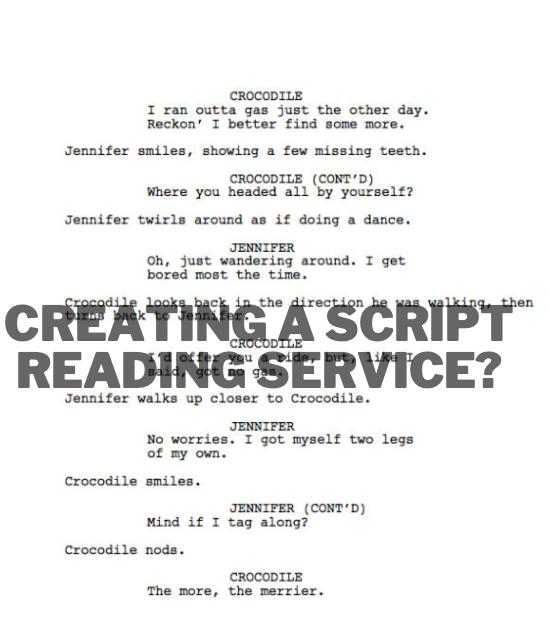 Should I start a script reading service to have a script reader job?