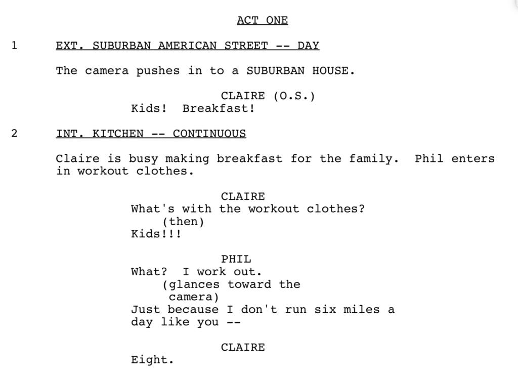 Modern Family Script Example