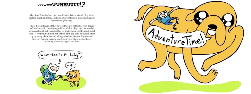 Adventure Time TV show bible