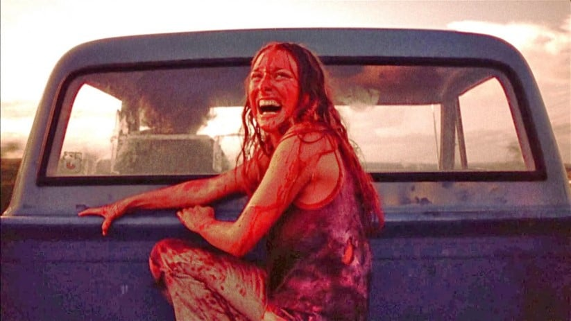 Classic Final Girl Marilyn Burns Escapes From Leatherface.