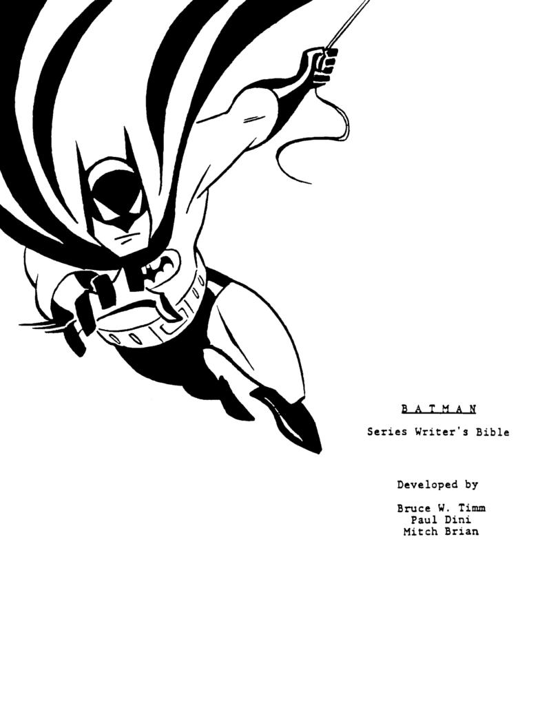 Batman: The Animated Series' TV Series Bible